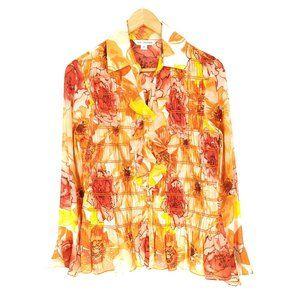 St John Silk Blouse 2 Casual Long Sleeve Button-Up